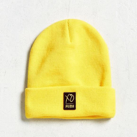 02af5bdbd0f PUMA x XO The Weeknd Yellow Knit Unisex Beanie